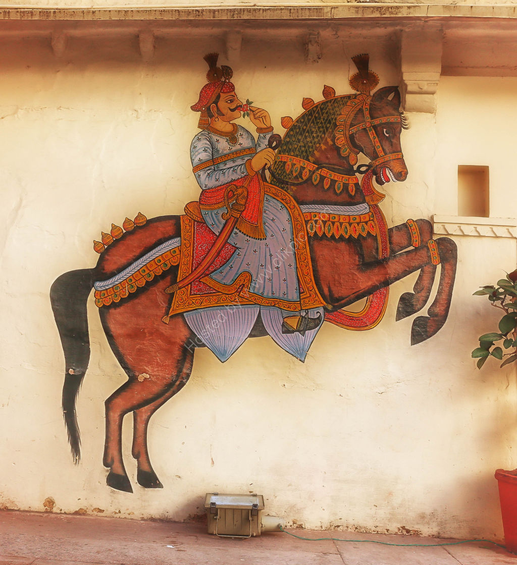 Mural in the Royal Palace Complex, Udaipur