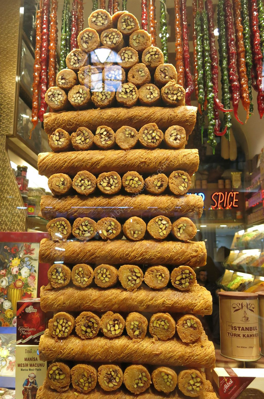 Baklava rolls at the Grand Bazaar, Istanbul