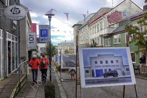 main street Reykjavik, Iceland