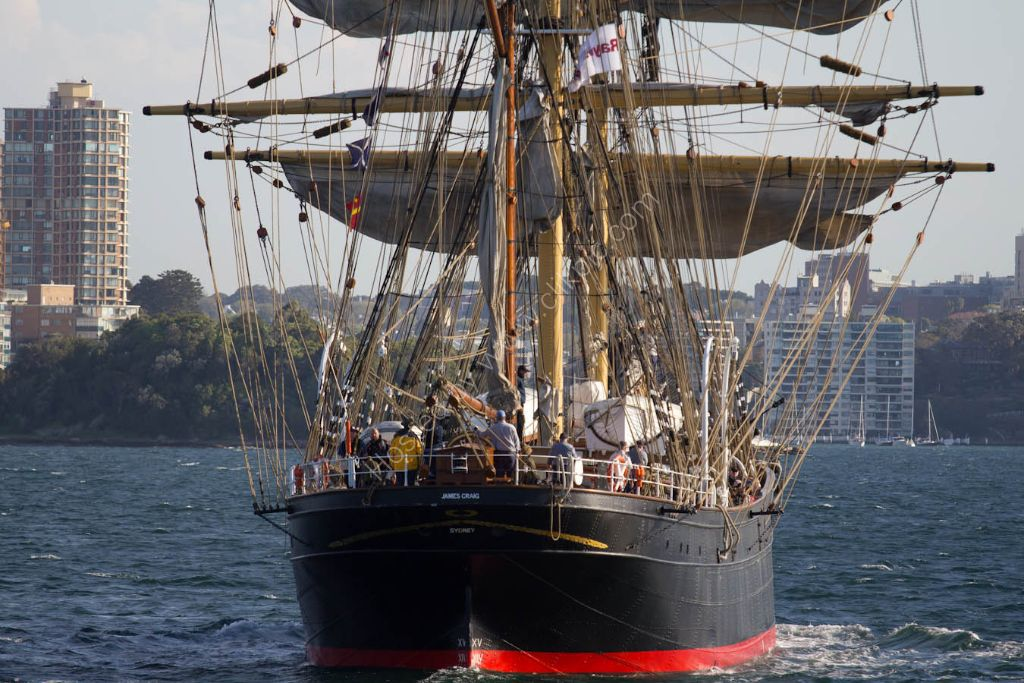 James Craig under full sail.