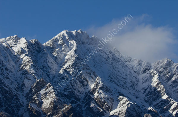 Fresh snow on the Remarkables near Queenstown