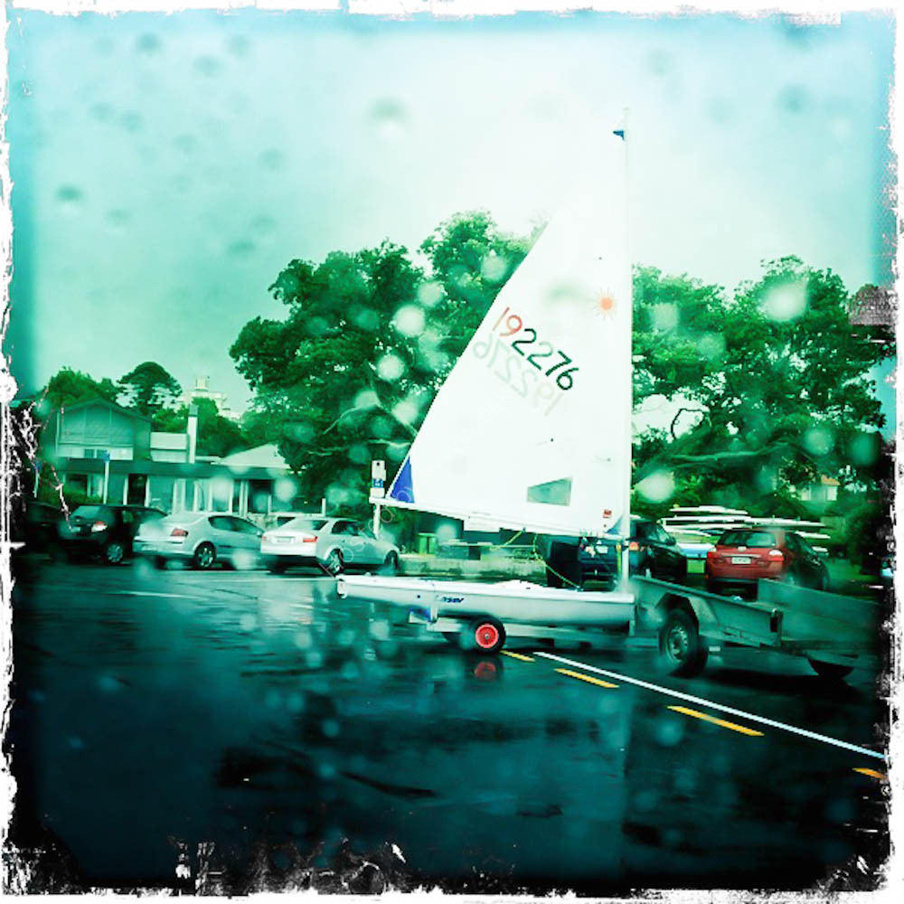 Wet day for Sailing