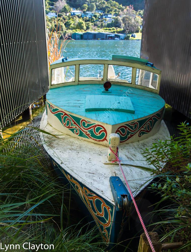 Old boat atLake Tarawera