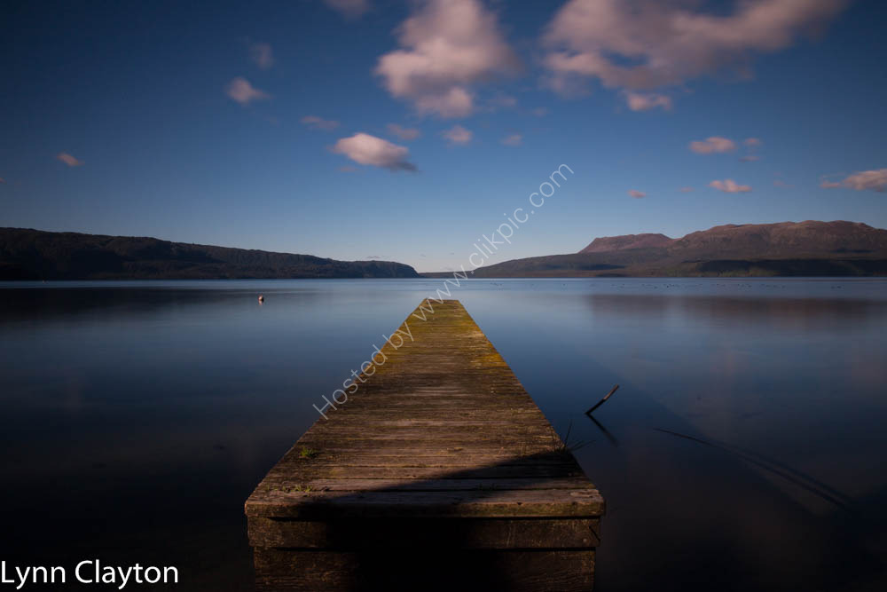Jetty at Lake Tarawera