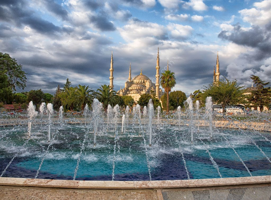 The Blue Mosque and fountain, Istanbul