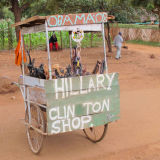 Roadside  stall - Hillary Clinton shop