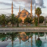 The blue Mosque at sunrise - Istanbul