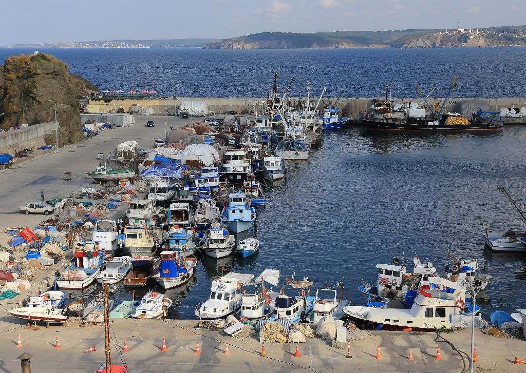 Fishing Village on the Black Sea and the Bosphorus