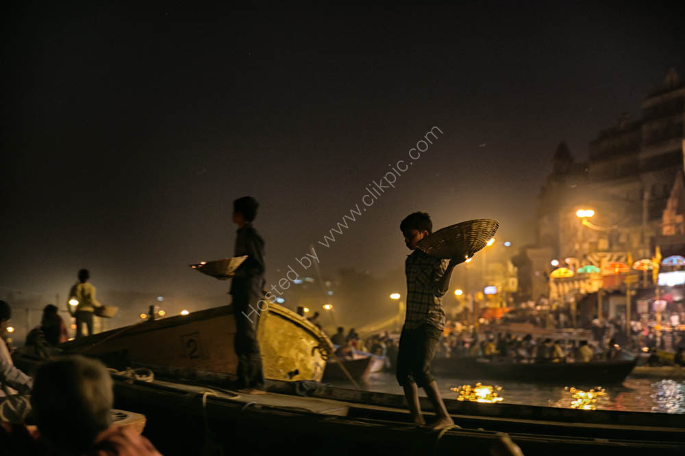 On the sacred Ganges River - Varanasi