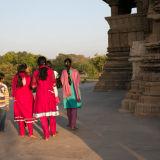 Modern Indian women wearing Salwar Kameez type clothing.