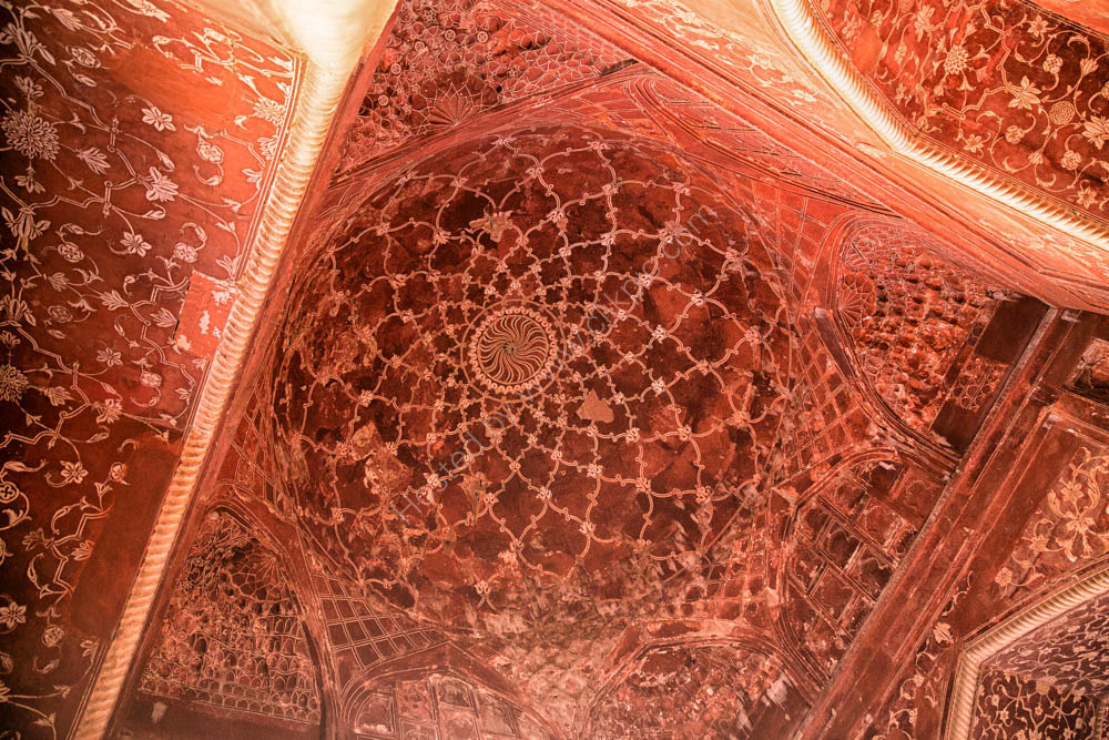 stunning ceilings in the Mehman Khana (assembly hall), Taj Mahal complex, next to the Taj Mahal