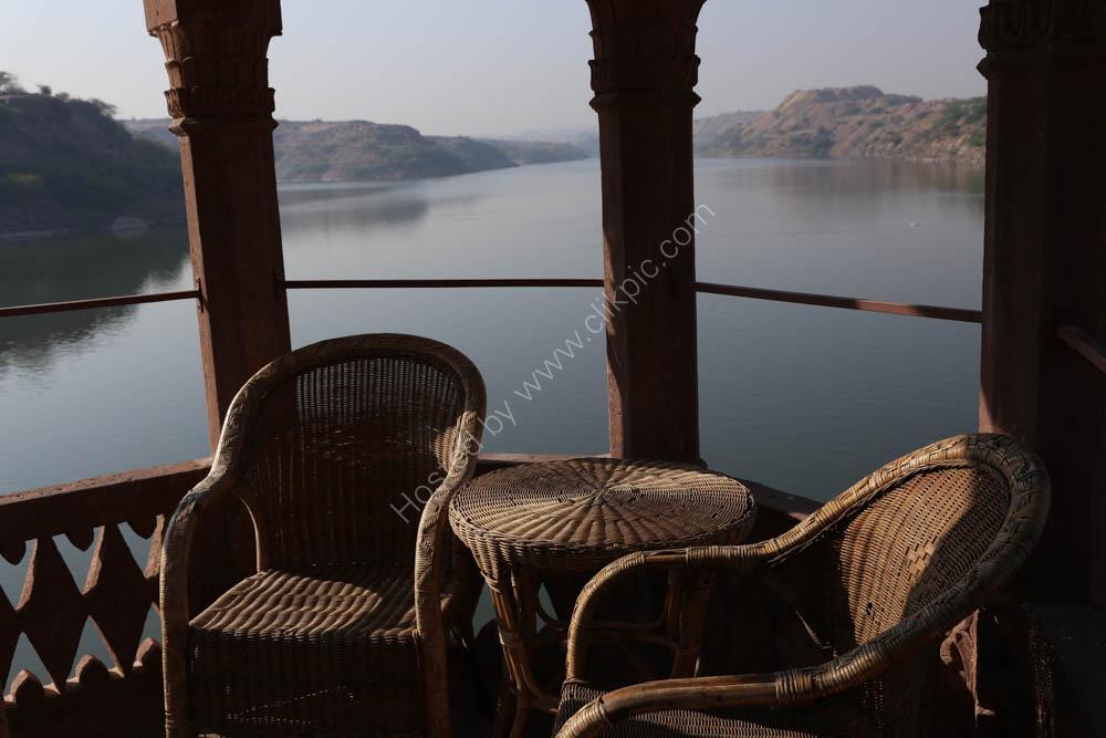 Lake at our Jodphur Hotel