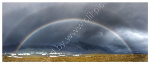Double rainbow -southern region of Iceland