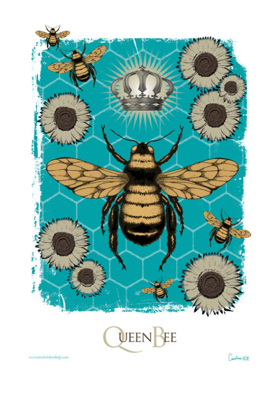 Queen Bee A4 digital print