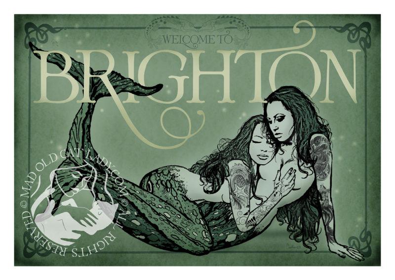 Brighton Mermaids A3 digital print