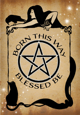 Born This Way witch greetings card