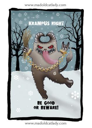 Krampus Night card