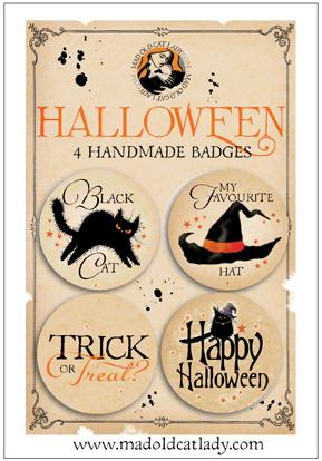 Halloween badge pack 3