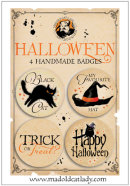 Halloween badge pack 3