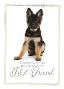 Best Friend German Shepherd Card
