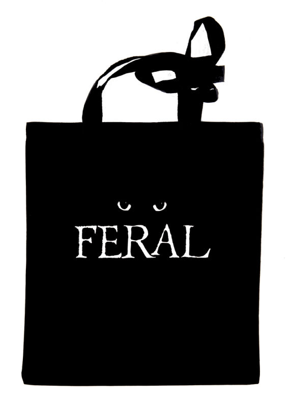 FERAL black tote bag
