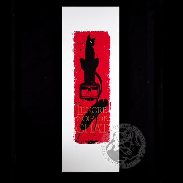 Le chat rouge limited edition of 30 (190x570mm)