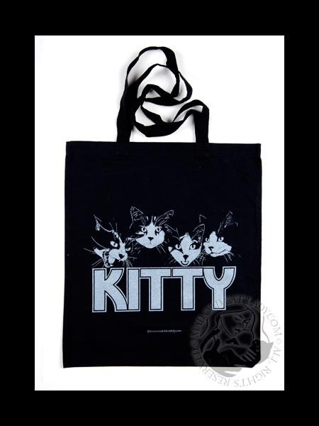 Retro print Kitty tote