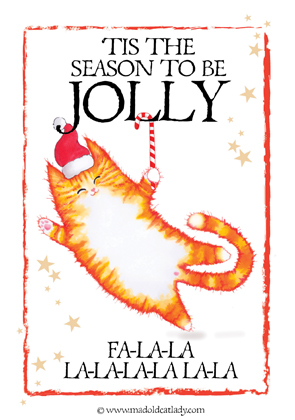 Fa-la-la-lovely Christmas card