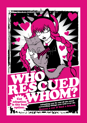 Who Rescued Whom card? (pink)