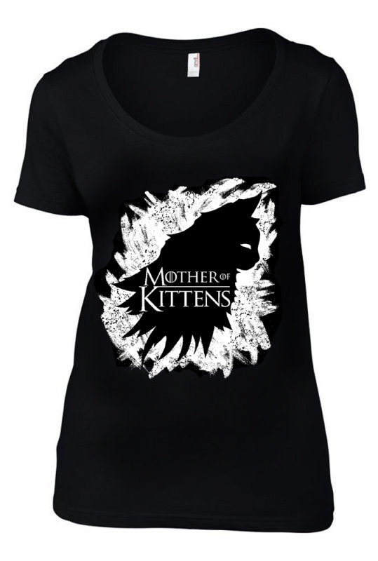MOTHER OF KITTENS LADIES T-SHIRT
