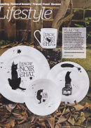 Limited edition, handmade fine bone china, four piece dinner set exclusive to Mad Old Cat Lady
