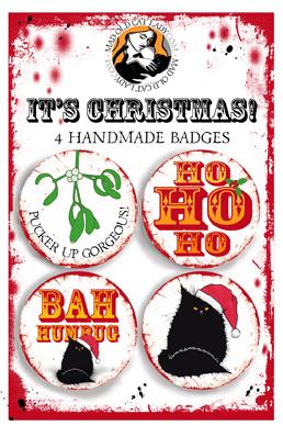 Black cat badge set