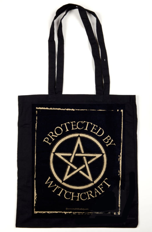 Protected by Witchcraft tote bag