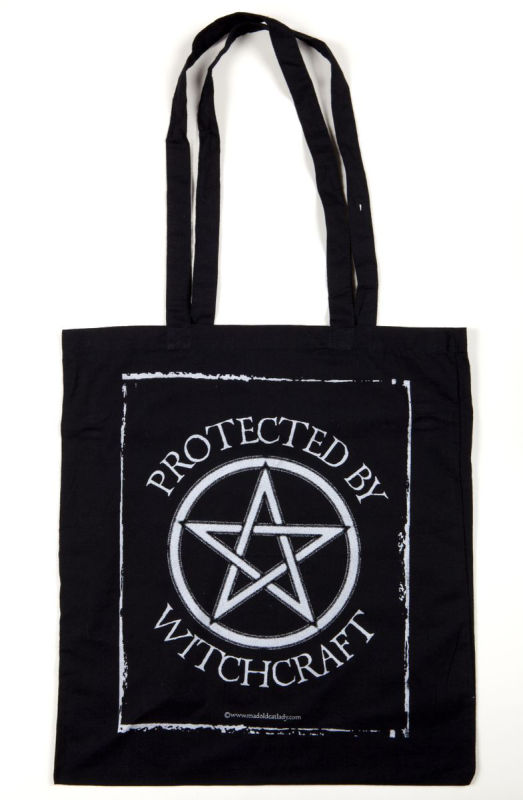 Protected by Witchcraft tote (silver)