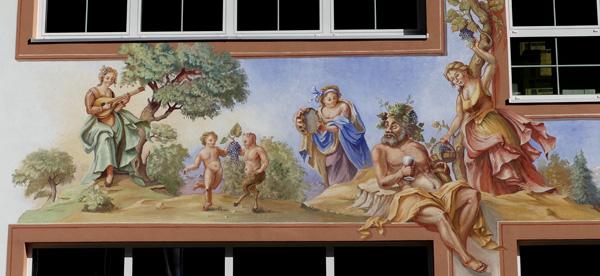 Amazing mural at Wine Merchants