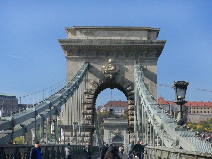 Chain Bridge across River Danube, Budapest