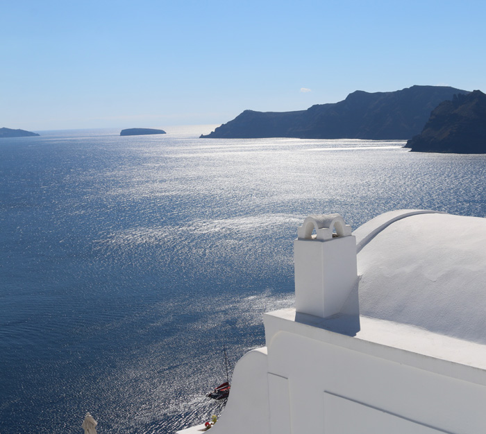 View out across the caldera
