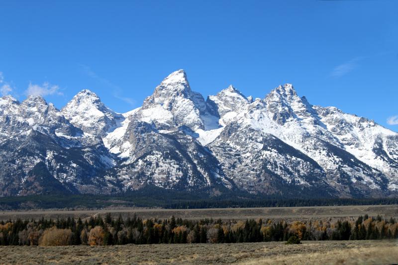 Grand Tetons mountain range