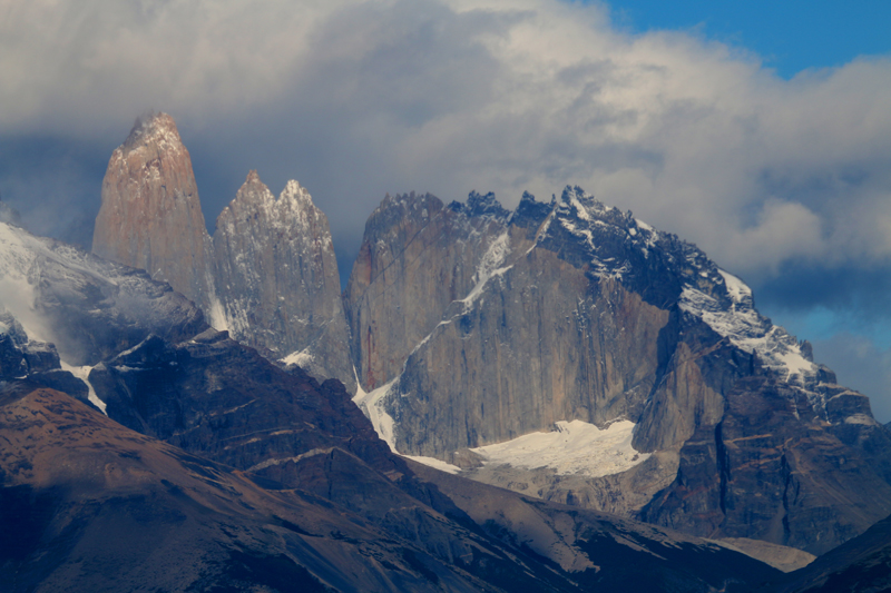 The famous Towers (or Torres) : Torres del Paine