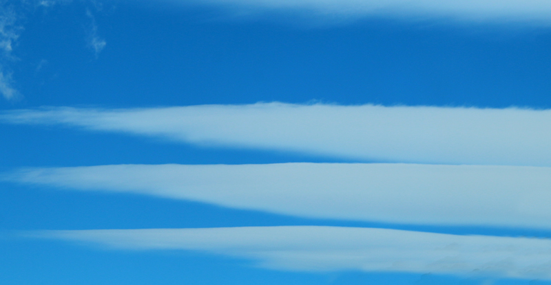 Lenticular clouds - typical of this region