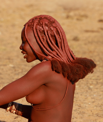 Traditional ochre hair