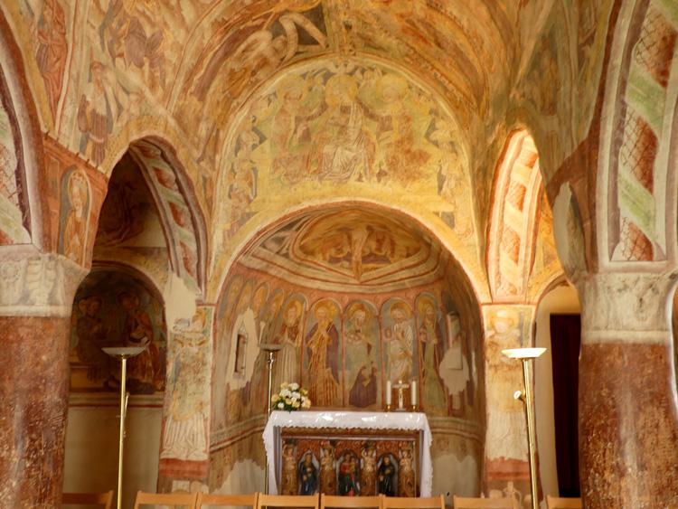 Best ever frescoes at Hrastovje church, Slovenia