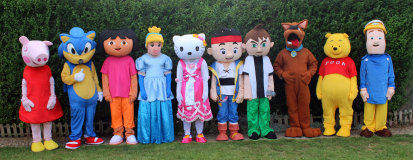 Character Mascot Look-a-like Appearances Available to book