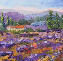 Abandoned Lavender Field Provence painting