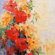 Abstract Flowers 2 Still Life Oil Painting