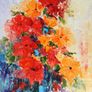 Abstract Flowers 1 Still Life Oil Painting