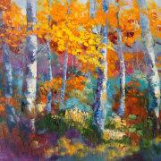 Autumn Colour Impressionist landscape painting