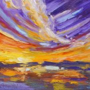 Colourful Skies Palette Knife Painting