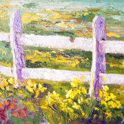 Host of golden Daffodils, Impressionist Provence Landscape