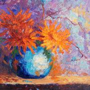 Burnt Orange Chrysanthemums